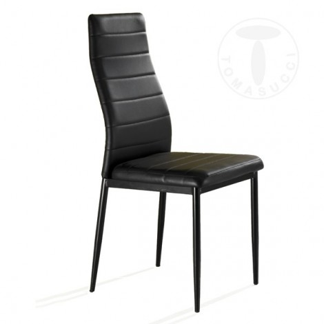 Camaro chair by Tomasucci with structure in lacquered metal and covered in synthetic leather in three different finishes