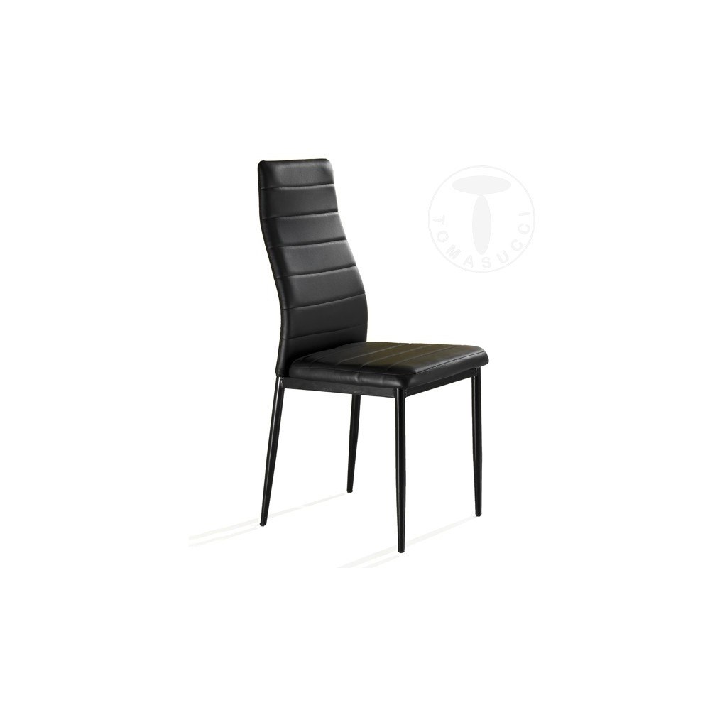 Chair Camaro by Tomasucci with Metal Lacquered Frame and Covered in  Eco-Leather in Three Different Finishings