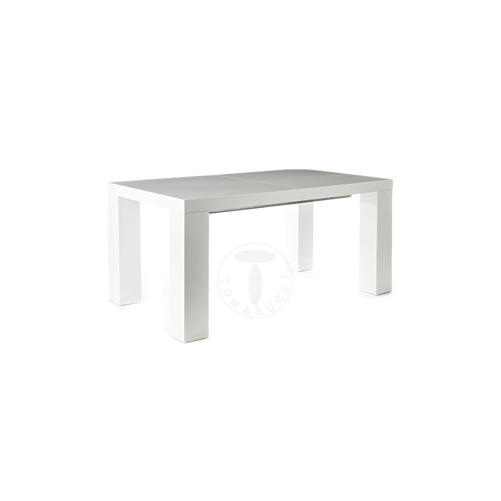 Table Extensible Imperial Eniterement Realisee En Mdf Laque Blanc Mat