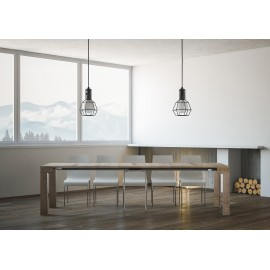 itamoby big due elongated nature oak console table