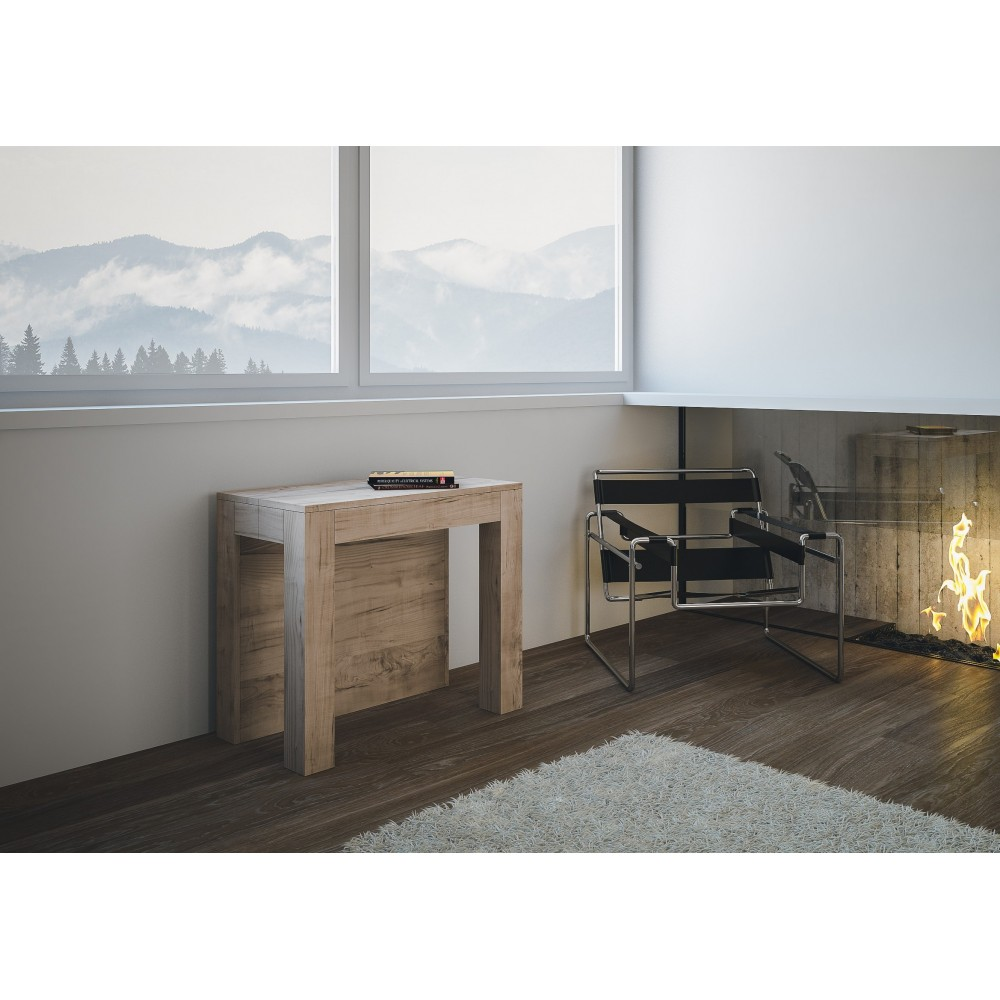 itamoby big due nature oak console table