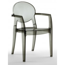 Igloo armchair by Scab transparent smoked
