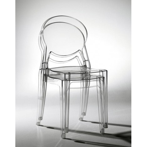 igloo scab transparent smoky stackable chair