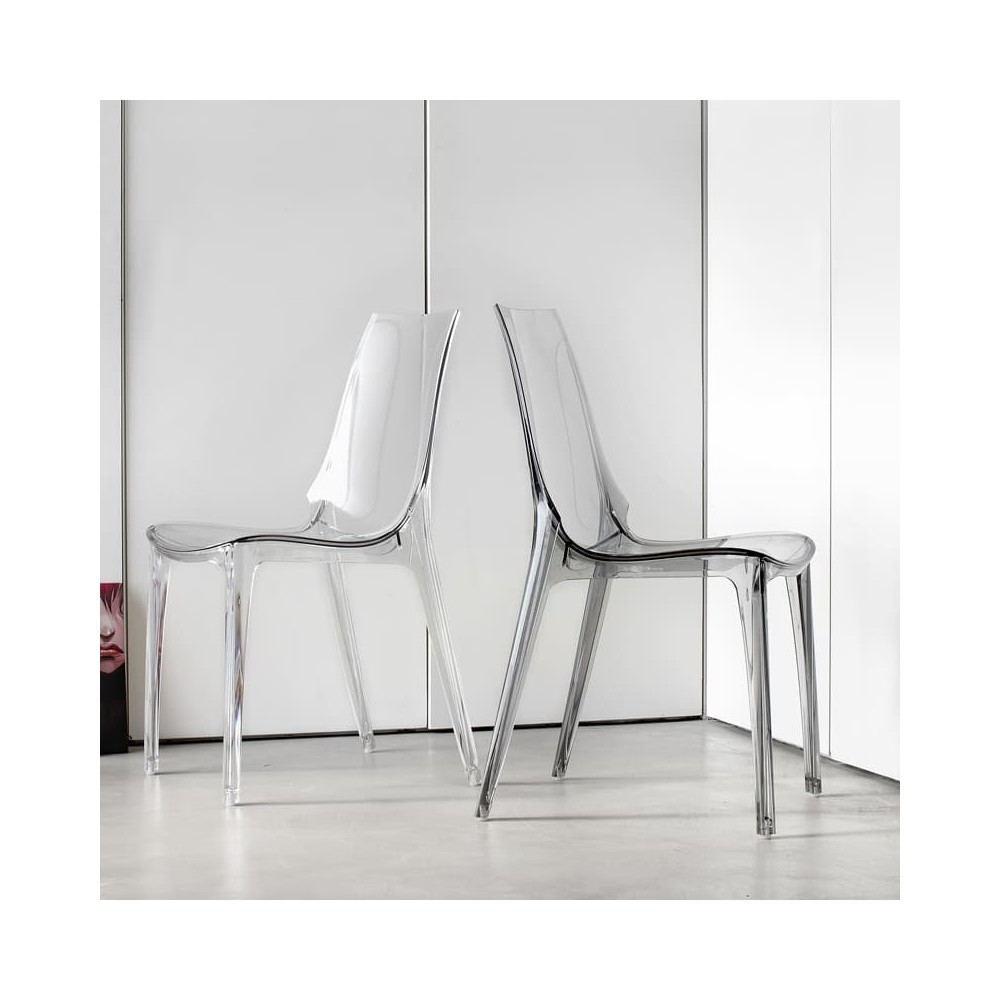 Sedia Vanity Chair.Chair Vanity In Polycarbonate Suitable For Outdoor And Indoor Available In Several Finishes