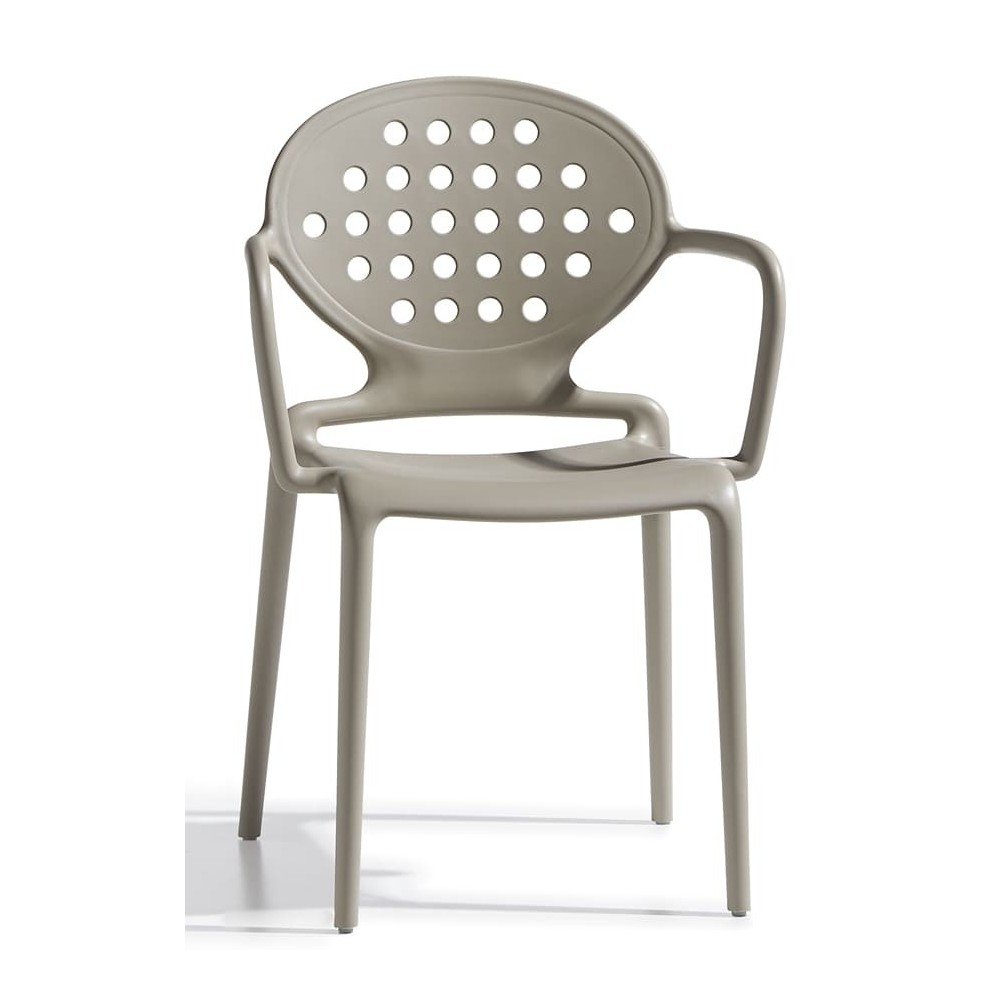 colette dove gray chair with armrests