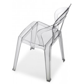 titì scab chair transparent smoked on the side