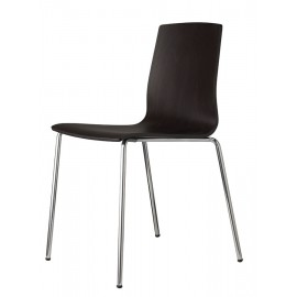 chaise alice scab chrome anthracite