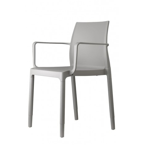 Chloé Trend Chair with Armrests in Technopolymer, Stackable and Available in several Colors