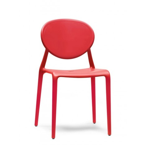Chaise rouge Gio Scab
