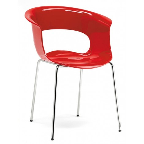 Fauteuil Miss B Antishocks scab rouge