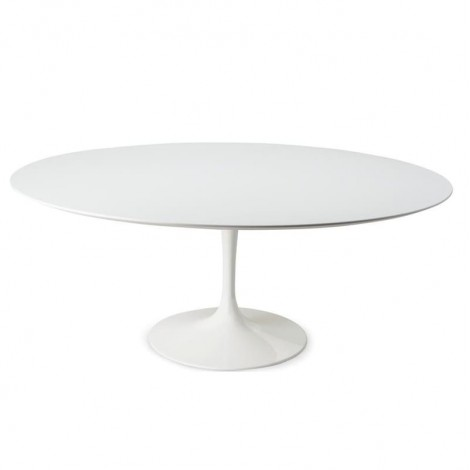 Round Tulip Dining Table diam. 127 cm to 180 cm with Laminte Top or Marble Top available in Different Finishes
