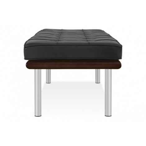 Re-edition of Barcellona bench or sofa by Ludwig Mies van der Rohe in real Italian leather 2 or 3 seats