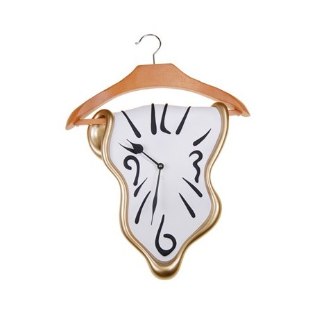 Wall clock in the shape of a hanger