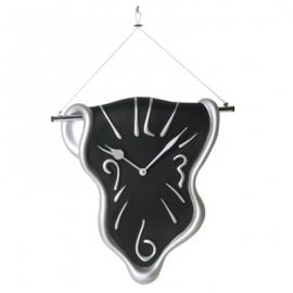 Wall clock Cm H 40 L 40 P7 with a melted shape
