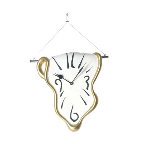 Wall Clock cm h 40 x 40 x 7 melted shape