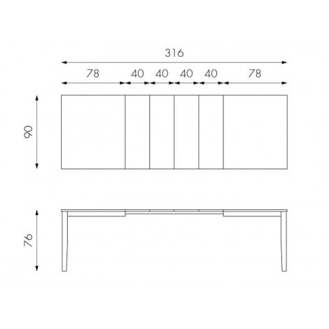 Big Extendable Dining Table in wood