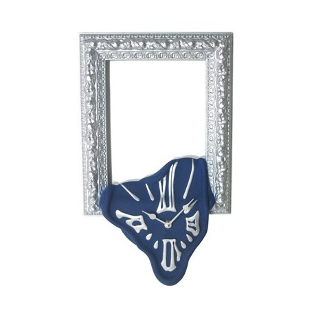 Wall clock with photo frame or mirror holder