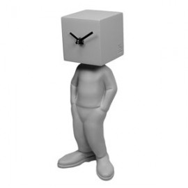 Kubico table clock for men with cube head, various finishes and designs