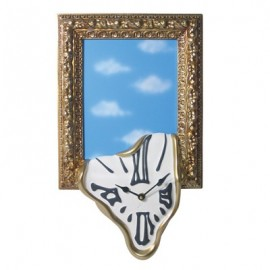 WALL CLOCK PHOTO FRAME WITH MIRROR