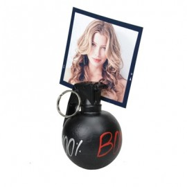 Photo bomb holder with hand-decorated lettering
