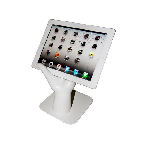 Ipad holder Open hand in resin and steel for support
