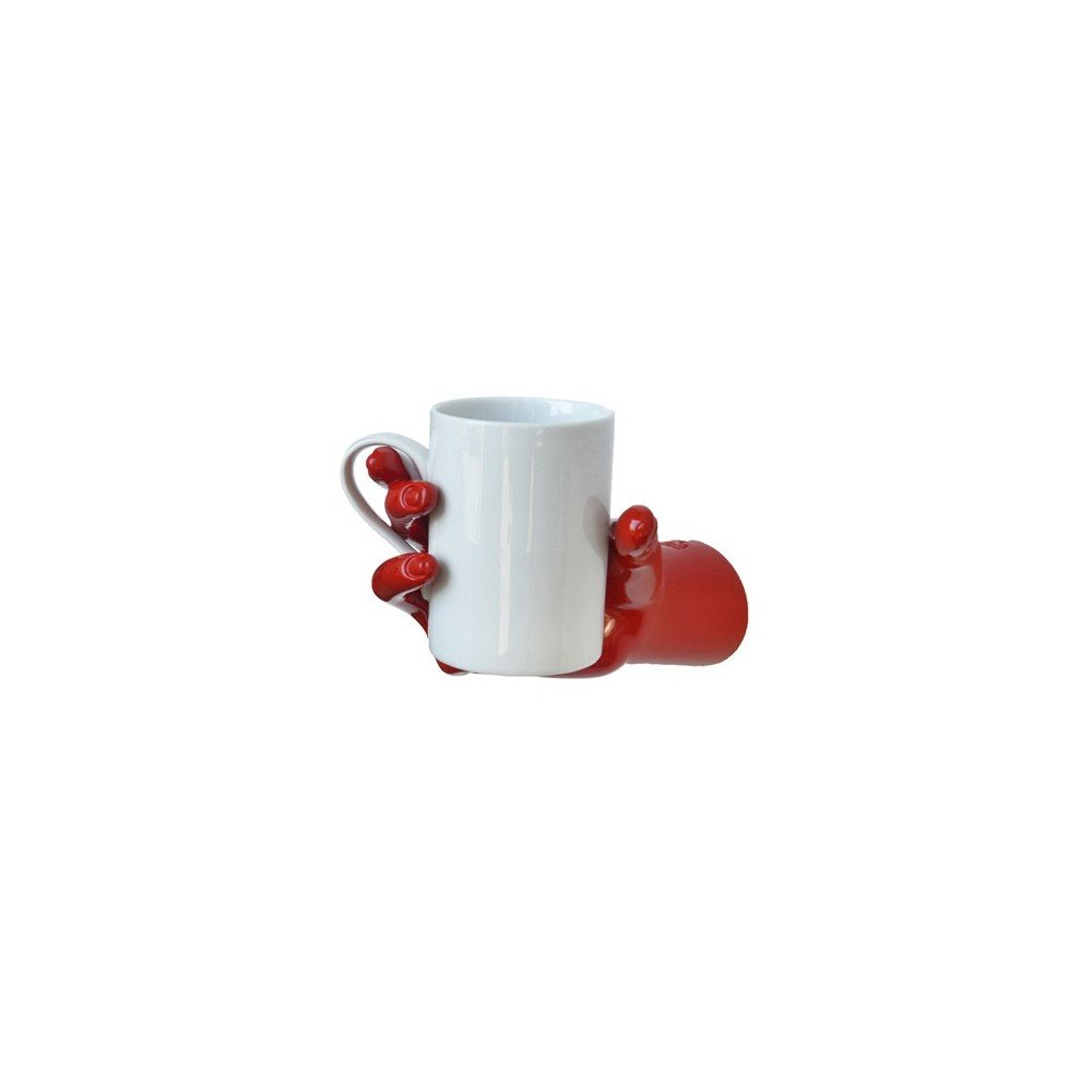 Wall-mounted hand-holder with breakfast cup