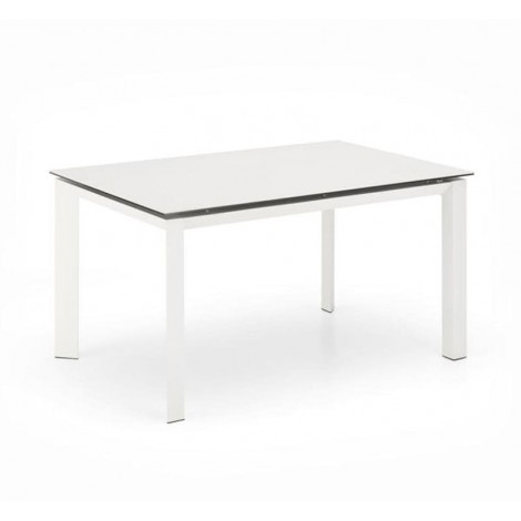 Extandable Table Account, Metal Legs and Top in Ceramic Marble Effect or Ceramic or Glass