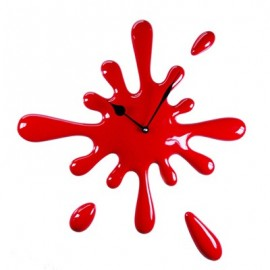 Drop wall clock in hand-decorated resin