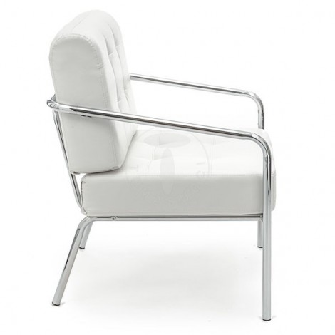 Jazz armchair by Tomasucci with chromed