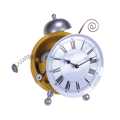Contrattempo Wall Clock measures cm L 14 x H 23 x D 10 in hand-decorated resin.
