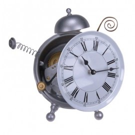 Contrattempo wall clock measures cm L 14 x H 23 x P 10 in hand-decorated resin.