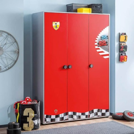 Turbo wardrobe in wood with...
