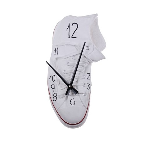 Richie Converse Scarpa Wall Clock in hand-decorated resin. Made in Italy