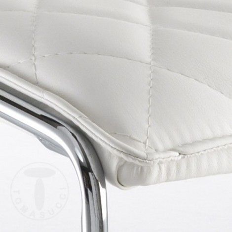 Mesh chair by Tomasucci with chromed