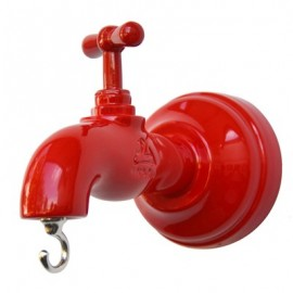 Wall hanger tap measures cm L 8 x H 14 x P 10. Hand-decorated resin. Made in Italy