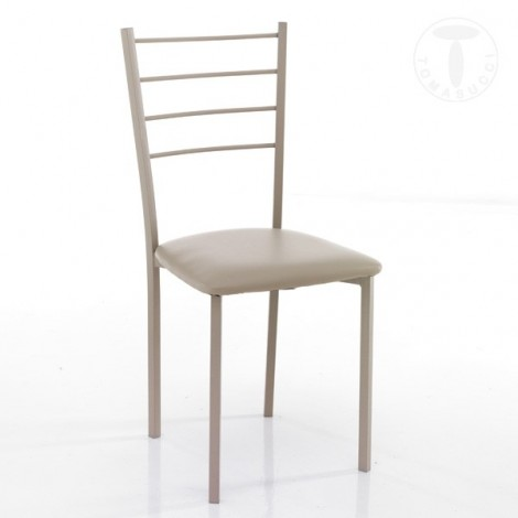 Just chair by Tomasucci in metal and synthetic leather covering available in three different finishes