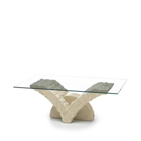 stones papillon contoured living room table