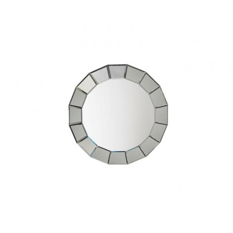 19 Stones mirror with round wall mirror frame. Suitable for bathrooms or bedrooms