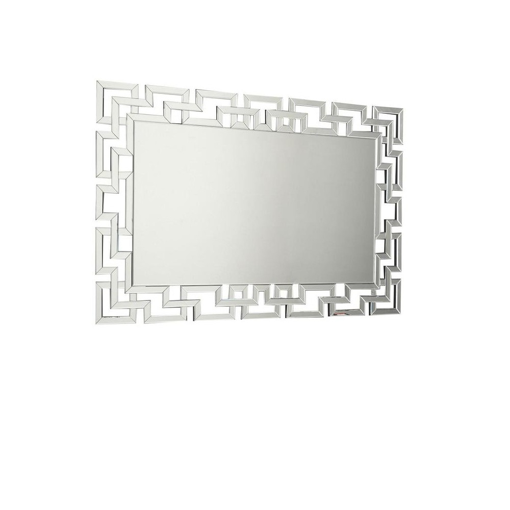 20 Stones mirror with ribbed frame made