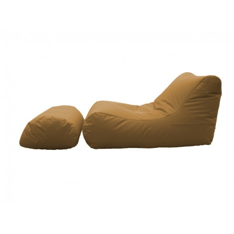 Chaise longue bag for indoor and outdoor use with internal spheres