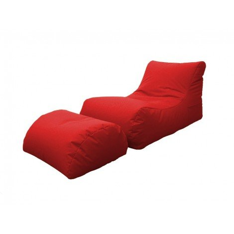 Bean-Bag Chaise Longue with internal microspheres, for gardens or interior spaces