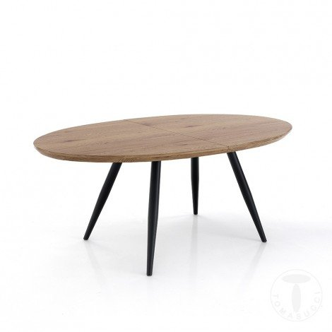 Oval extendable table by...