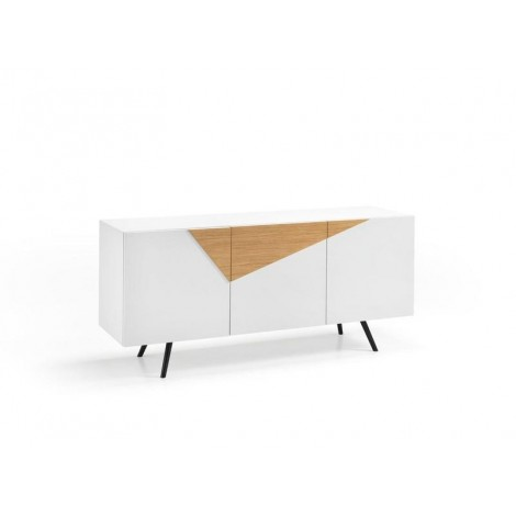 stones ginger white contoured sideboard