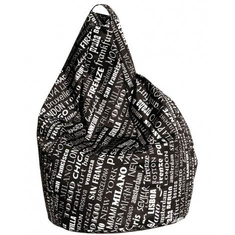 Puof outdoor waterproof beanbag city fabric