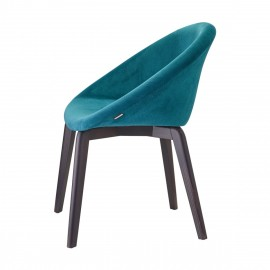 Natural Giulia Pop scab blue armchair with backrest