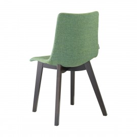 Natural Zebra Pop scab green chair with backrest