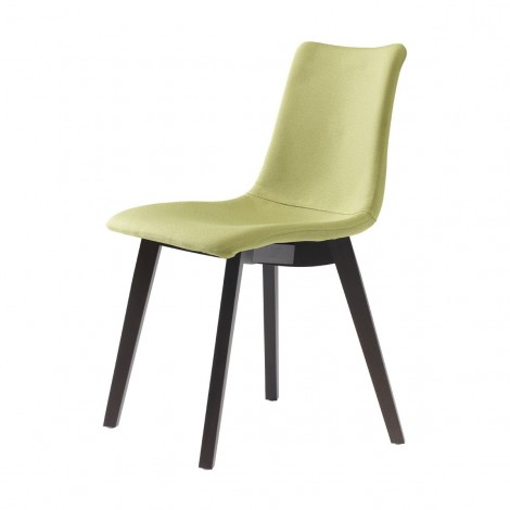 Natural Zebra Pop chair made with solid wood structure and polycarbonate shell in various finishes