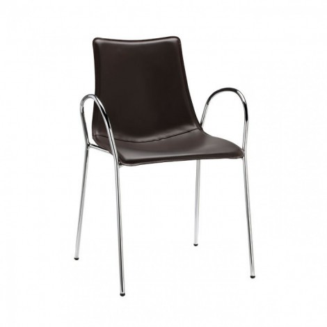 Chair with armrests Zebra Pop imitation leather of scab
