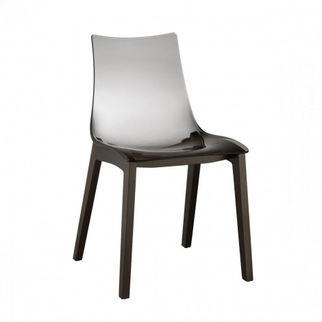 Natural Zebra Antishock chair with smoked shell, side view