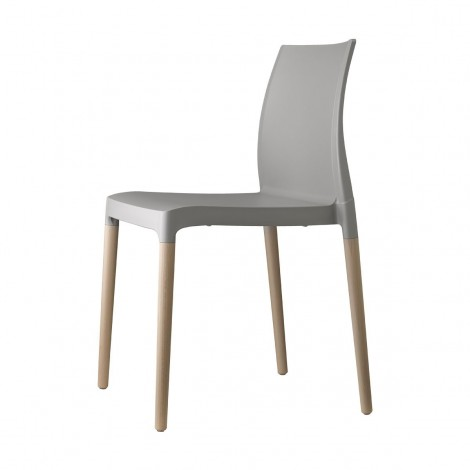 Natural Chloè chair by Scab gray without armrests
